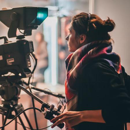 Human operating camera